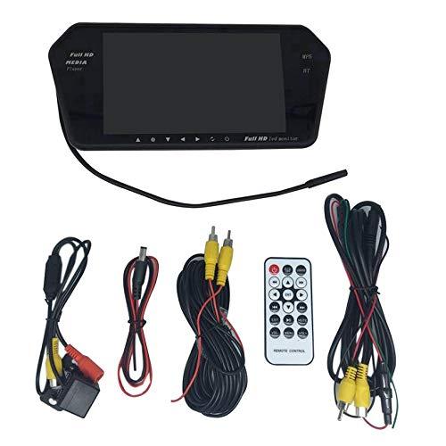 Macchina fotografica di backup per auto, Dash Cam Bluetooth da 7 pollici con telecamera retromarcia Obiettivo grandangolare 170 ° Night Vision Loop Registrazione Rilevazione di emozioni