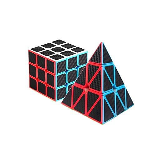 YXHUI El Cubo de Rubik, de Tercer Orden, se Puede Usar como un Regalo, Suave, Estilo piramidal y Embalaje de Cubos de Rubik de Tercer Orden (Dos Paquetes) Good Mood, Good Life