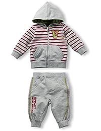Schnizler Hausanzug, Freizeitanzug mit Kapuze - Traje De Footing Unisex bebé, color gris, talla 86 (Talla fabricante: 86)