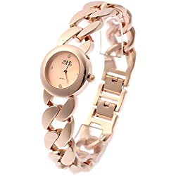 Sheli Women's Small Rose Gold Stainless Steel Quartz Round Bangle Watch, 25mm