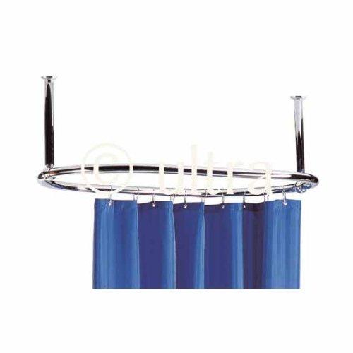 Barra reggitenda ovale vasca annello per appendere tenda doccia barra 1070mm x 610mm ottone - Tenda per vasca da bagno ...