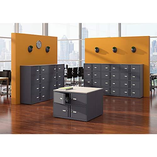 Bisley Office Lodge Essentials, 6 Türen: 4X H 267 & 2X H 304 mm, Metall, 645 Lichtgrau, 47 x 80 x 100 cm - Lodge-tür