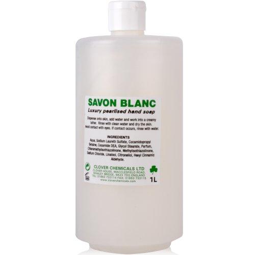 Savon Blanc weiß Hand Seife (750ml).