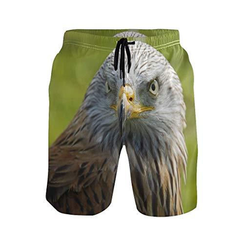 Männer Badehose Predator Falcon Bird Eagle Schnelltrocknende Strandshorts mit Tunnelzug