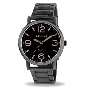 Kahuna KGB-0002G – Reloj para Hombre, Correa de Otros Materiales Color Plateado