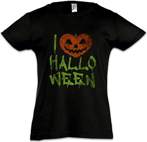 I Love Halloween Mädchen Kinder Kids T-Shirt