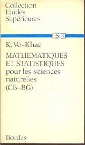 Mathématiques et statistiques pour les sciences naturelles (CB-BG) par Vo-Khac K.