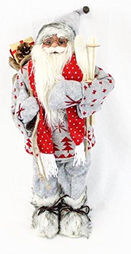 Unbekannt pupazzo di babbo natale decorativo, figura ca. decorazione natalizia a forma di babbo natale, 60 cm, 6 diversi modelli a scelta