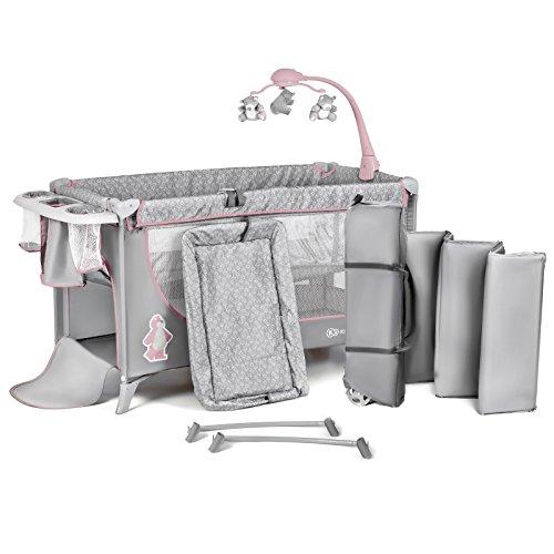 Niño Fuerza kkjoy00pnk000z Joy infantil de viaje cama cuna plegable viaje cama para niños con accesorios, color rosa