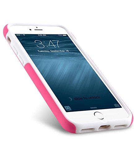 Apple Iphone 7 Melkco Elite-Serie Premium Leder-Snap zurück Tasche Tasche mit Premium-Leder Handgefertigte gute Schutz, Premium Feel-Tan Rosa / Weiß