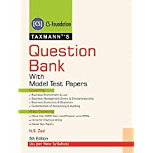 Question Bank with Model Test Papers (CS-Foundation)(As per New Syllabus)(5th Edition 2019)