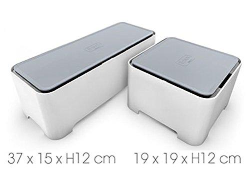 Preisvergleich Produktbild Allibert E-Box Kabelbox Organizer Kabelorganizer und Steckdosenorganizer (37x15xH12)