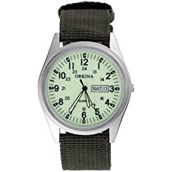 ORKINA Army Green Canvas With A Korean Version Of The Retro Classic Ladies Watches