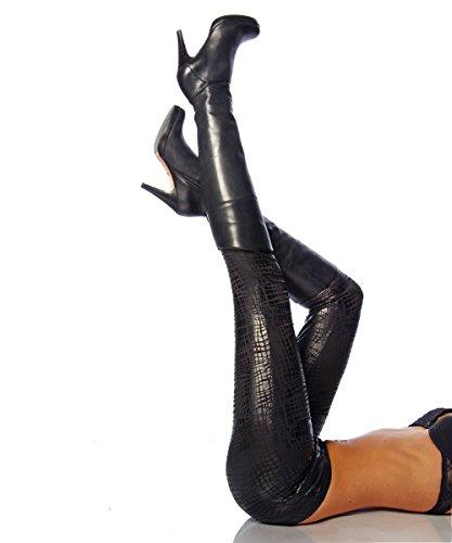 Preisvergleich Produktbild Leggings im Kroko-Look von luxury & good Dessous L