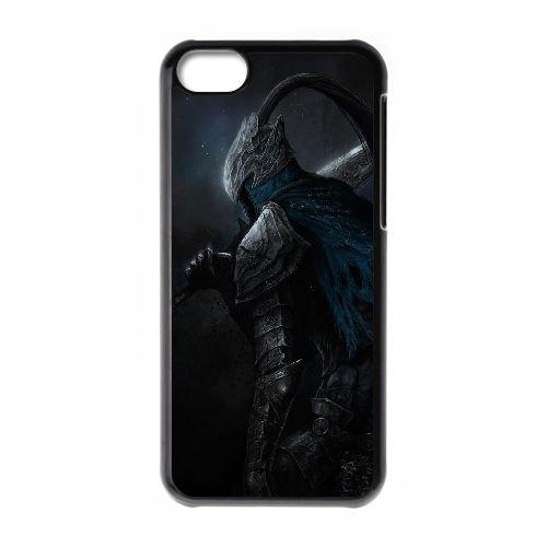 Dark Souls coque iPhone 5C Housse téléphone Noir de couverture de cas coque EBDXJKNBO15154
