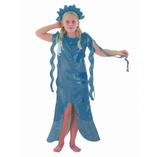 Mermaid Girl Blue Kostüm Alter 10-11 - Blue Mermaid Kostüm