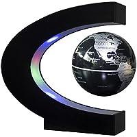 Redear Floating Globe With LED Lights C Shape Magnetic Levitation Floating Globe World Map for Desk Decoration