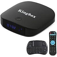 Kingbox-2018 Dernière Version K2 Android TV Box avec Mini Clavier Sans Fil Boîtier TV 2Go RAM/16Go ROM avec Quad-Core CPU 64 Bits Smart TV Box Supporte 2.4G WiFi/BT4.0/Android 6.0 etc