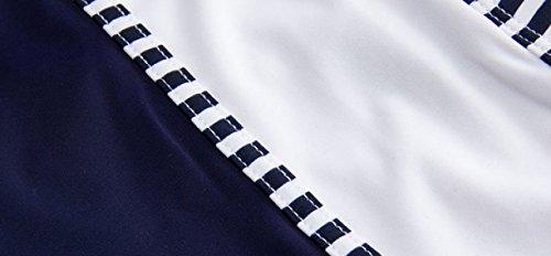 KUWOMINI.Striped Flache Badehose Art Und Weise Fest Niedrige Taille Heiße Quellen Hosen Strand White