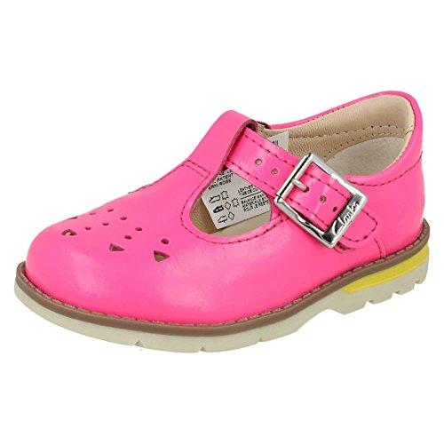 Clarks Scarpe prime di Dabi Leila ragazza Pink Pat 4œ G