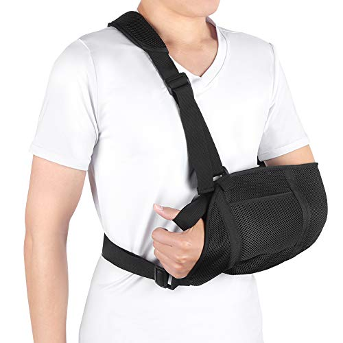 Arm-gurt (Armschlinge Schulter Bandage für gebrochene Arme, Schulterschlinge Armschlinge Gepolstert mit Hüftgurt für Handgelenk, Ellenbogen, Schulterverletzungen für Damen und Herren, linkes oder rechts Arm)