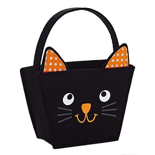 Hallmark 5HGB1840 Kitty Gift Bag Geschenktasche, Filz, schwarz