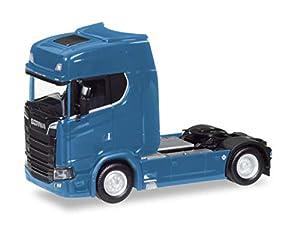 Herpa 307468-003 Scania CS V8 HD - Tractor, Color Azul genciana
