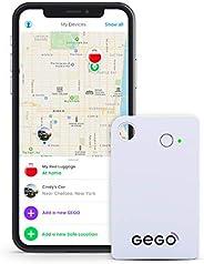 Gego - Rilevatore GPS per bagagli per bambini, in tutto il mondo, GSM, Bluetooth, app, piccolo, 30 giorni di p