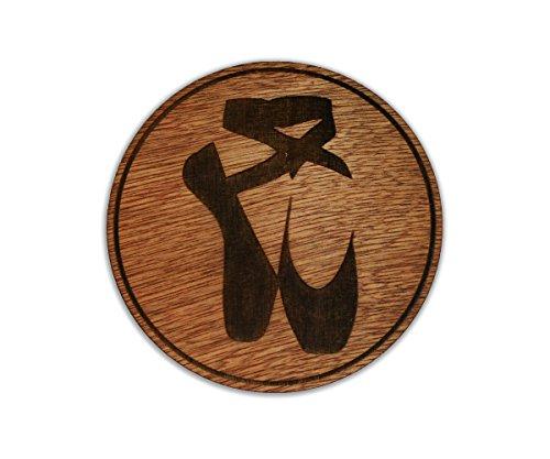 Ballerina Pointe Shoes - Art of Dancing - Black Swan - Custom Wooden Coaster Set (Pointe Ballerina)
