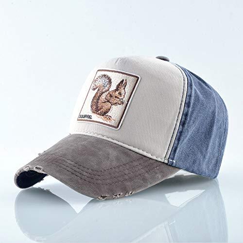 Preisvergleich Produktbild sdssup Baseball Netzmütze Wolf Tier Stickerei Baseballmütze Männer und Frauen Hut Eichhörnchen - braun verstellbar