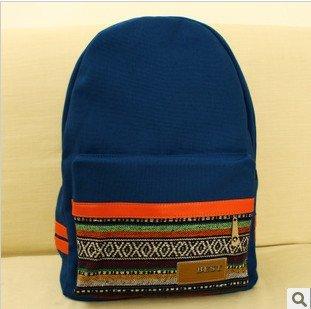 FASHION-PLAZA-Stylish-Backpack-Bolso-mochila-de-Lona-para-mujer-multicolor-multicolor-M
