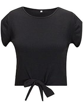 Beauty7 Camisas Corta Mujeres Cuello Redondo Mangas Corta Vestido Verano Blusas T-Shirt Tops Parte Superior Camisetas...