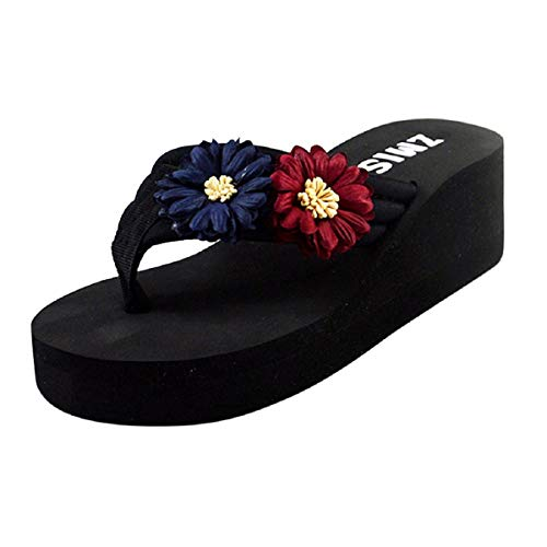 Barlingrock Ladies Summer Slippers,Womens Flowers Open Toe Sandals for Home Beach -