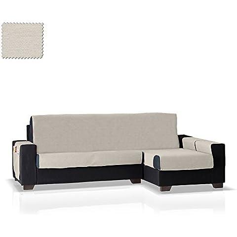 Cubre sofá Chaise Longue Pistu, Brazo Derecho, tamaño normal (243 Cm.), Color 11 (varios colores