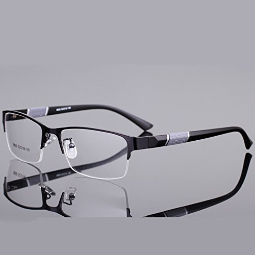 BuyWorld Silhouette Eyeglasses Men's Computer Optical Eye Glasses Spectacle Frame (BWALA0778,Transparent Lens)