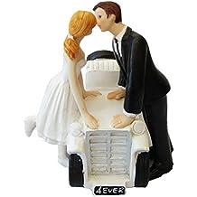 Pareja de novio y de la novia imagen perfecta figura decorativa para tarta de boda decoración, resina, #8