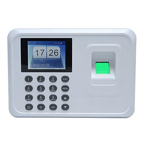 aibecy DC 5V 2.4Zoll TFT LCD Display Recorder von Fingerabdrücken Biometrisches Intelligentes, POINTAGE Maschine des Personal, Maschine von Anwesenheit der employés-noir