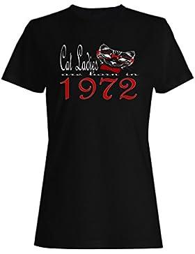 Damas de gato nacen en 1972 camiseta de las mujeres b809f