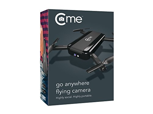 C-me 20050 - Die fliegende Selfie-Kamera für Full HD-Videos und 8-MP-Fotos, fliegende Selfie-Cam mit GPS-Unterstützung, zusammenfaltbar, einfach per Smartphone fliegen, filmen und sofort teilen, schwarz - 6