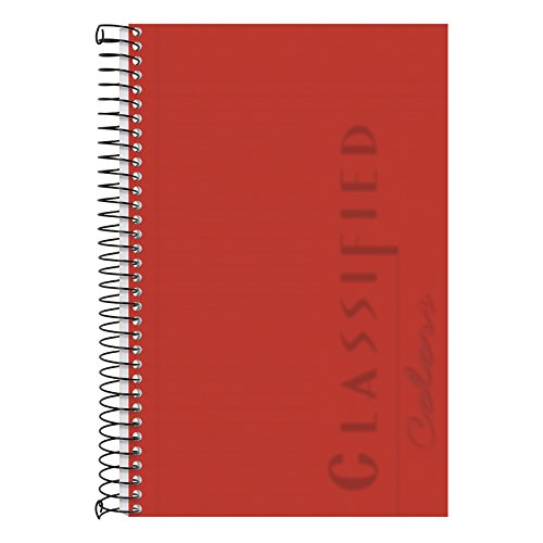 Tops Business Notebook, 5,5 x 21,6 cm, College Rule, 100 Blatt pro Buch, Ruby Cover aus Kunststoff (73505) (Tops Spiral Steno-bücher)
