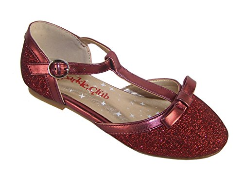 The Sparkle Club Pearl, Mädchen Ballett, Rot - Rot - Größe: 42 2/3 EU , (9 UK)