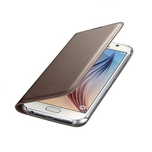 Samsung Galaxy J7 - 6 (New 2016 Edition) Premium Durable Leather Flip cover Case - GOLD