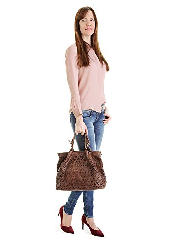 Samantha Look Sac shopping. cognac