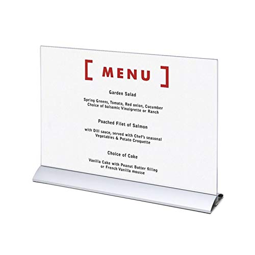 Tischaufsteller A3 T-Ständer Querformat Acryl Aufsteller Werbeaufsteller Tischständer Tischaufsteller A3 -