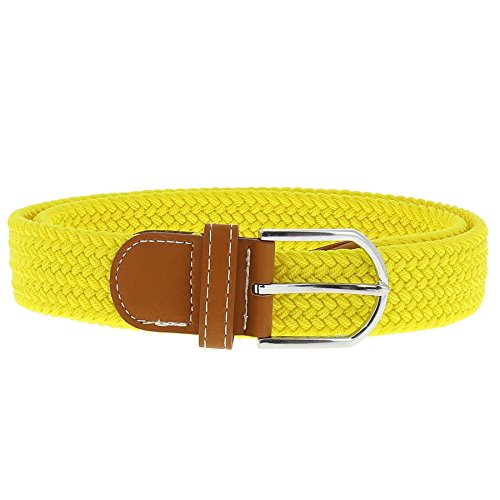 Cinturón amarillo para Mujer. Elástico