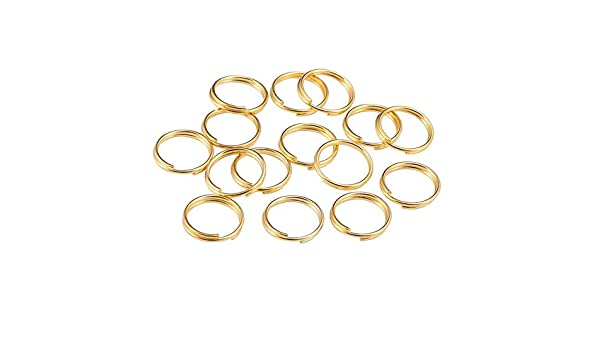 200pcs Double Loops Split Open Jump Rings Connectors For DIY Jewelry Finding