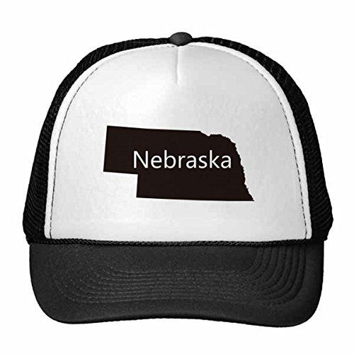 DIYthinker Nebraska Die Vereinigten Staaten von Amerika USA Karte Silhouette Trucker-Mütze Baseballmütze Nylon kühlen Hut justierbare Kappe Kinder Netz
