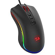 REDRAGON RGB Gaming Mouse Wired Mouse, Gaming Mouse voor Pro Gamer, met 16,8 miljoen kleuren RGB achtergrondverlichting M711