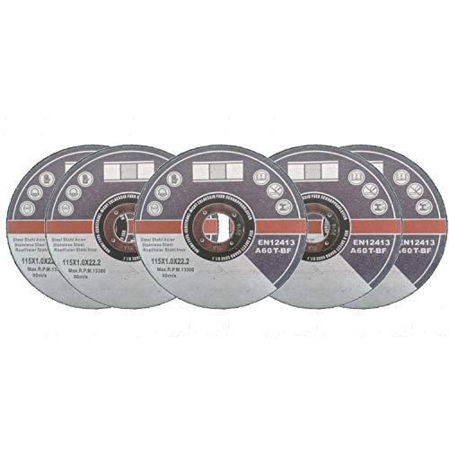 5 Stck. Trennscheiben Ø115 mm Flexscheiben Inox Edelstahl Metall Extradünn 1 mm (Edelstahl Ofenrohr-8)