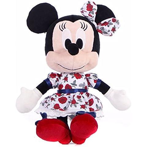 I love Minnie - Peluche Minnie 20cm con vestido de Rosas Rojas - Calidad super soft
